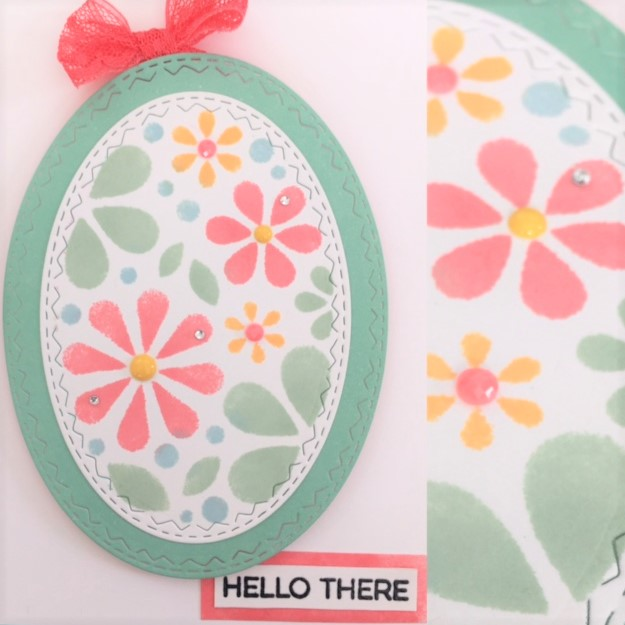Simon Says Stamp Oval of Flowers