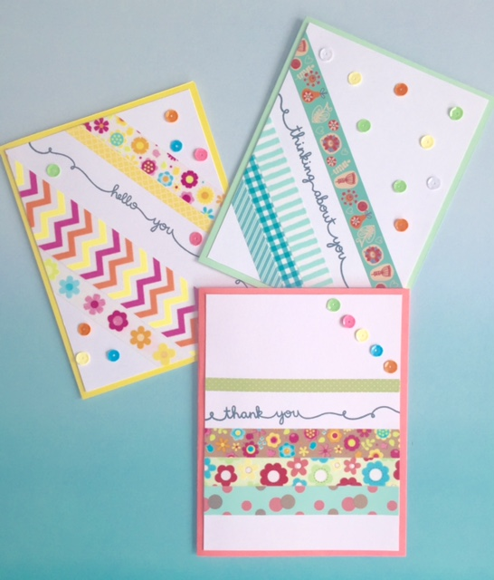 Lawn Fawn Scripty Sayings & Washi Card