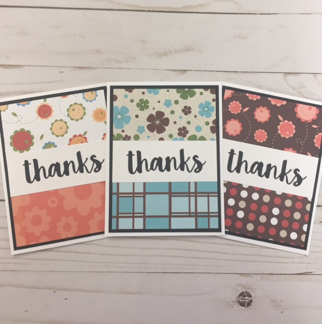 MFT THANKS Scrap Cards
