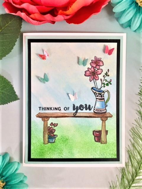 Altenew Garden Grow Card with Watercolor