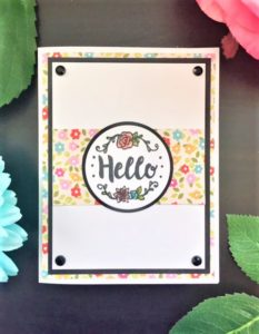 Sizzix Sidekick Floral Hello Card