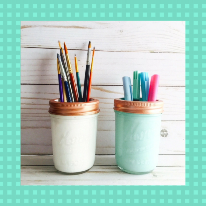 DIY Shabby Chic Pencil Cup