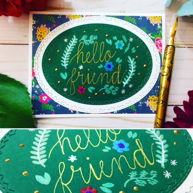 "Hand-drawn Hand-lettered ""Hello Friend"""