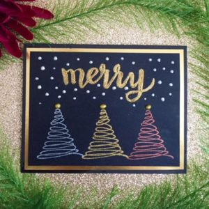 Brilliance Christmas Card with Hand-lettered Sentiment
