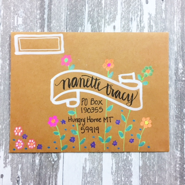 Envelope Mail Art with Gelly Rolls & BIC Metallic Markers