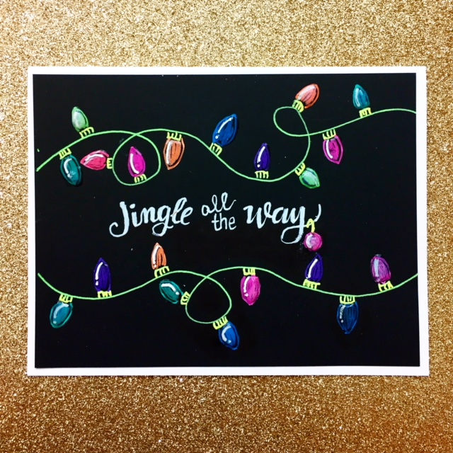 Gelly Roll Hand-drawn & Lettered Christmas Card