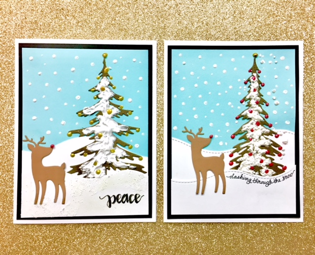 Reindeer Lettered Card